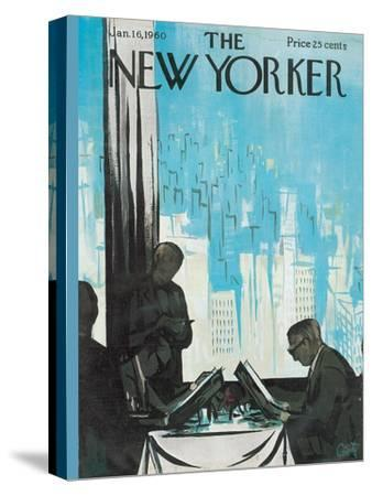 The New Yorker Cover - January 16, 1960-Arthur Getz-Stretched Canvas Print