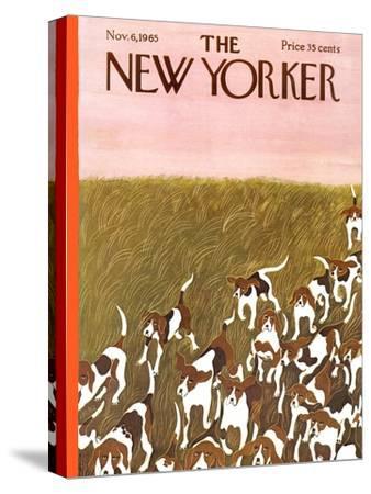 The New Yorker Cover - November 6, 1965-Ilonka Karasz-Stretched Canvas Print