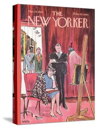 The New Yorker Cover - March 29, 1969-Charles Saxon-Stretched Canvas Print