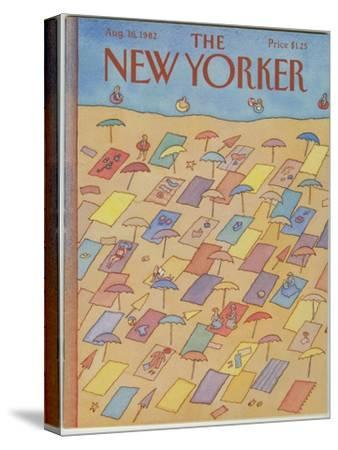 The New Yorker Cover - August 16, 1982-Lonni Sue Johnson-Stretched Canvas Print