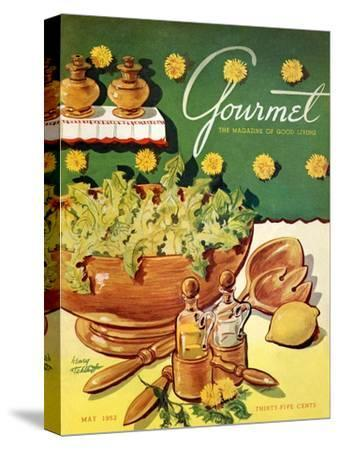 Gourmet Cover - May 1952-Henry Stahlhut-Stretched Canvas Print