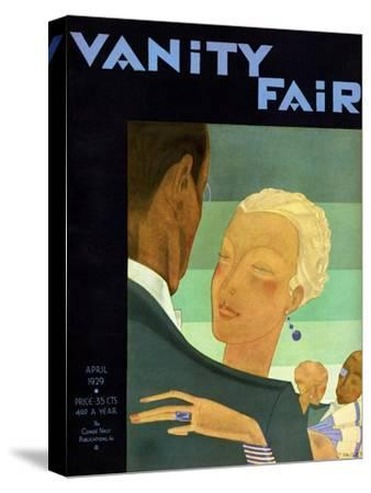 Vanity Fair Cover - April 1929-Jean Pag?s-Stretched Canvas Print