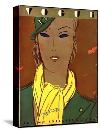 Vogue Cover - August 1933-Eduardo Garcia Benito-Stretched Canvas Print