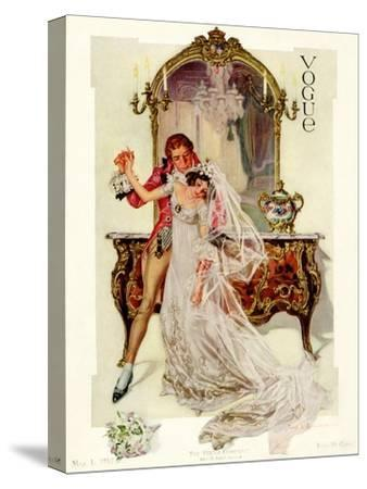 Vogue Cover - May 1912-Frank X. Leyendecker-Stretched Canvas Print
