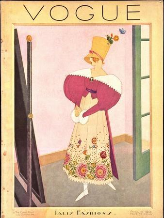 Vogue Cover - April 1926-George Wolfe Plank-Stretched Canvas Print