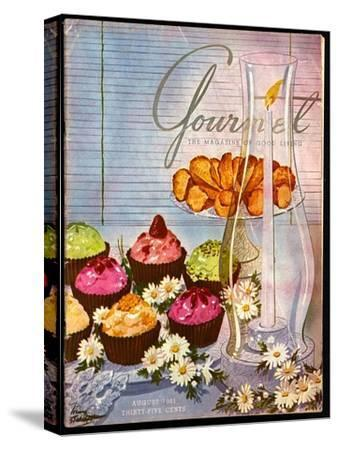 Gourmet Cover - August 1951-Henry Stahlhut-Stretched Canvas Print