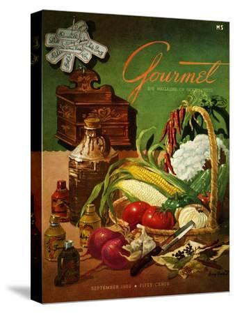 Gourmet Cover - September 1952-Henry Stahlhut-Stretched Canvas Print