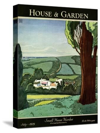 House & Garden Cover - July 1929-Harry Richardson-Stretched Canvas Print