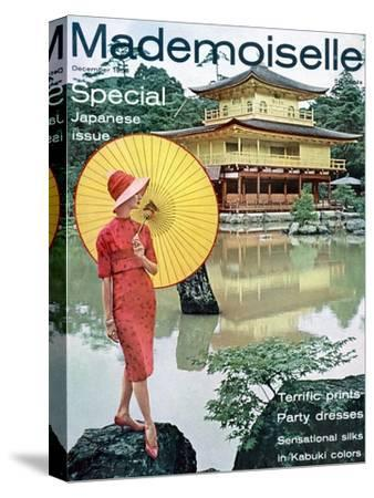 Mademoiselle Cover - December 1958-Herman Landshoff-Stretched Canvas Print