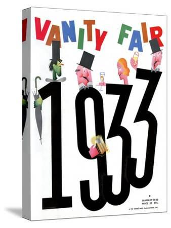 Vanity Fair Cover - January 1933-Frederick Chance-Stretched Canvas Print