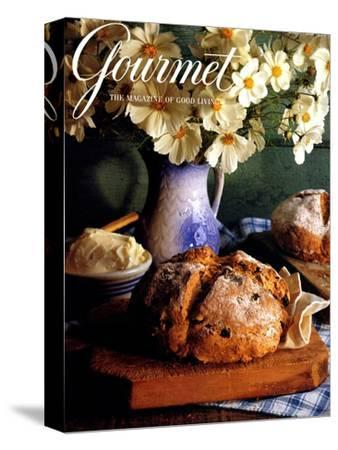 Gourmet Cover - March 1994-Romulo Yanes-Stretched Canvas Print