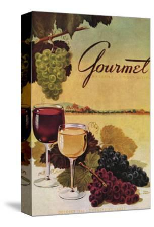 Gourmet Cover - October 1942-Henry Stahlhut-Stretched Canvas Print