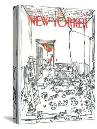The New Yorker Cover - January 5, 1981-George Booth-Stretched Canvas Print