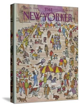 The New Yorker Cover - May 21, 1984-James Stevenson-Stretched Canvas Print
