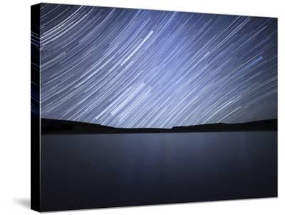 Star Trails of the Celestial Equator in Somuncura, Argentina-Stocktrek Images-Stretched Canvas Print