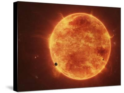 A Massive Red Dwarf Consuming Planets Within it's Range-Stocktrek Images-Stretched Canvas Print