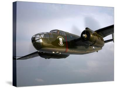 A North American B-25 Mitchell in Flight-Stocktrek Images-Stretched Canvas Print