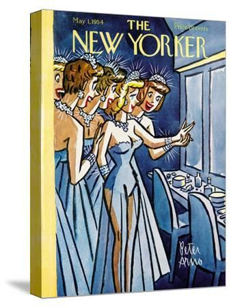 The New Yorker Cover - May 1, 1954-Peter Arno-Stretched Canvas Print
