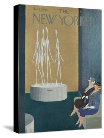 The New Yorker Cover - January 15, 1955-Charles E. Martin-Stretched Canvas Print