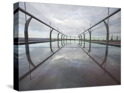A View of the Skywalk over the Grand Canyon-John Burcham-Stretched Canvas Print