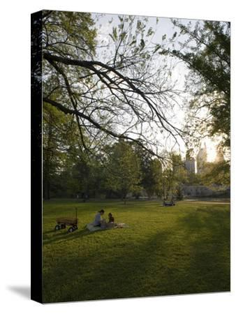 Late Afternoon in Piedmont Park in Midtown, Atlanta-Krista Rossow-Stretched Canvas Print