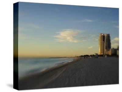 Miami Beach at Twilight-Raul Touzon-Stretched Canvas Print