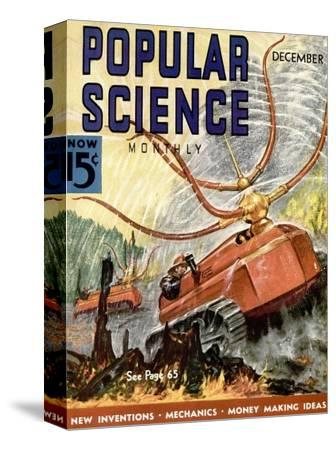 Front Cover of Popular Science Magazine: December 1, 1930--Stretched Canvas Print