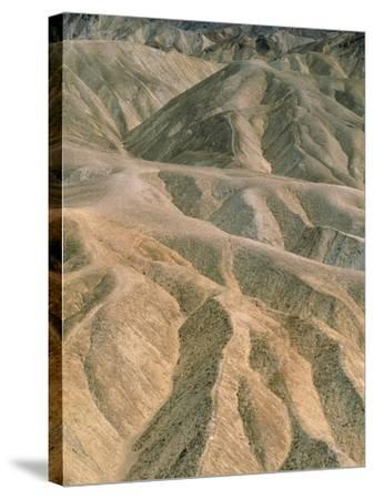Zabriskie Point in the Death Valley National Park, California (USA)-Theo Allofs-Stretched Canvas Print