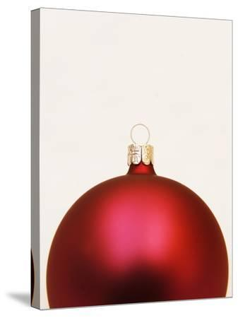 Red Christmas tree decorations--Stretched Canvas Print