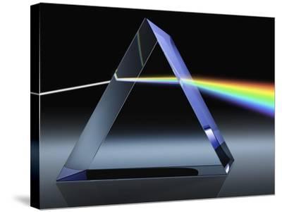 Light Beam Through Glass Prism-Matthias Kulka-Stretched Canvas Print