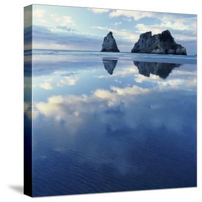 Sea Stacks in Ocean-Micha Pawlitzki-Stretched Canvas Print