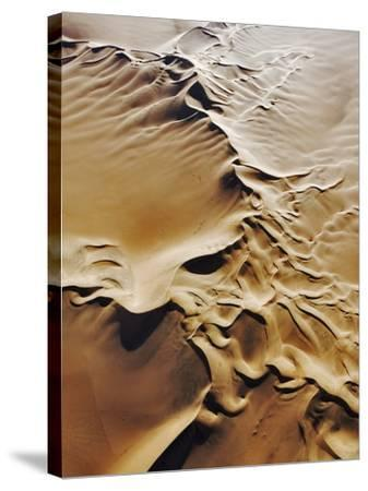 Aerial View of Sand Dunes-Martin Harvey-Stretched Canvas Print