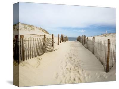 Quiet Beach-Stephen Mallon-Stretched Canvas Print