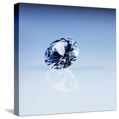 Round Cut Diamond--Stretched Canvas Print