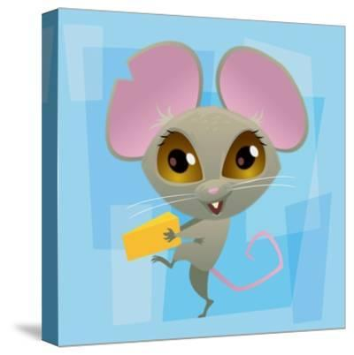 Anime Mouse-Harry Briggs-Stretched Canvas Print