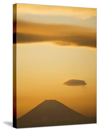Mt. Fuji from Arasaki Point--Stretched Canvas Print