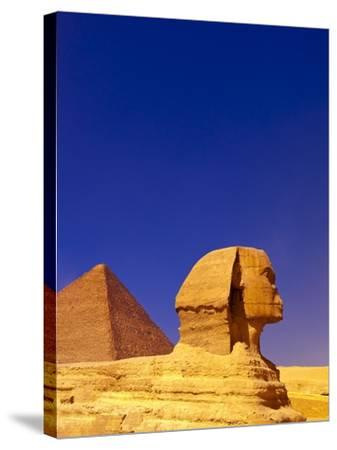 Great Sphinx and Pyramids at Giza-Blaine Harrington-Stretched Canvas Print