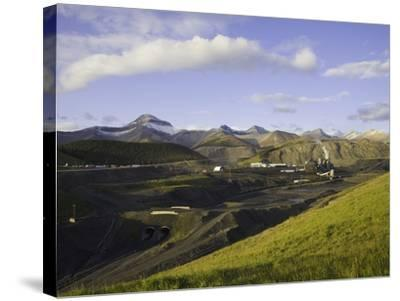 Cardinal River Coal Mine in the Canadian Rocky Mountains-John Eastcott & Yva Momatiuk-Stretched Canvas Print