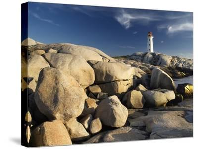Peggy's Cove Lighthouse Nova Scotia, Canada.-Darwin Wiggett-Stretched Canvas Print