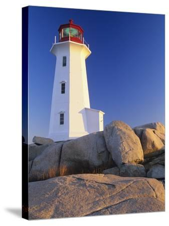 Peggy's Cove Lighthouse, Peggy's Cove, Nova Scotia, Canada-Miles Ertman-Stretched Canvas Print