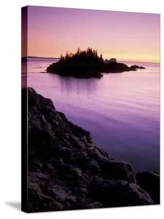 East Quoddy Lighthouse at Sunrise, Campobello Island, New Brunswick, Canada-Garry Black-Stretched Canvas Print