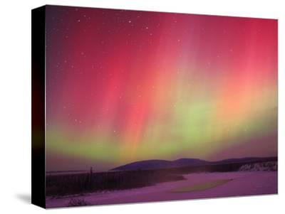 Aurora Borealis or Northern Lights, Yukon.-Robert Postma-Stretched Canvas Print