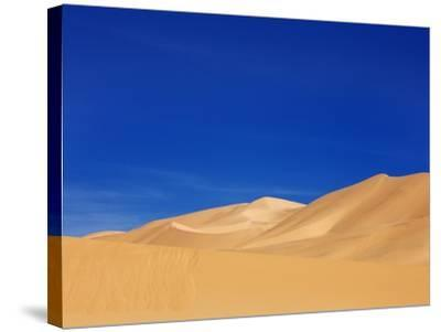 Sand dunes in Erg Admer in Algeria-Frank Krahmer-Stretched Canvas Print