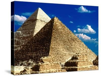 Pyramids of Giza-Larry Lee-Stretched Canvas Print