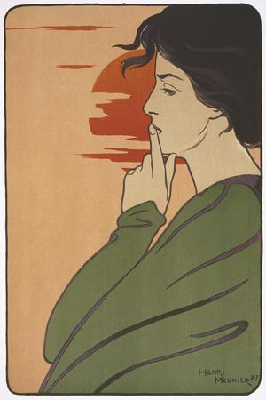Hour of Silence-Henri Meunier-Stretched Canvas Print