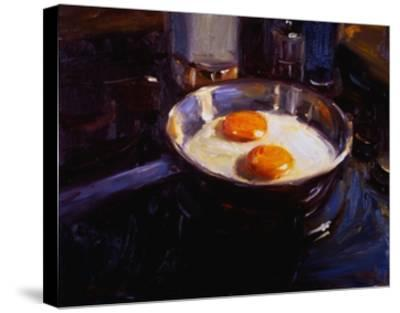 Eggs on the Gas Stove-Pam Ingalls-Stretched Canvas Print