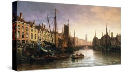 A View of Amsterdam, the Netherlands-Charles Euphrasie Kuwasseg-Stretched Canvas Print