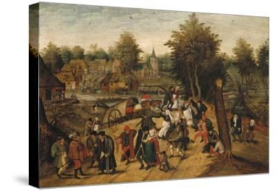 The Return from the Village Fair-Pieter Brueghel the Younger-Stretched Canvas Print