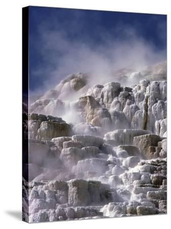 Mammoth Hot Springs-Craig Aurness-Stretched Canvas Print