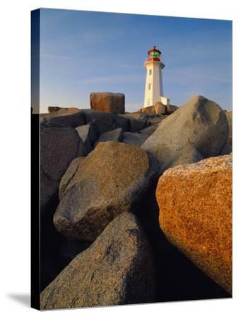 Rocks near Peggy's Cove Light-Ron Watts-Stretched Canvas Print